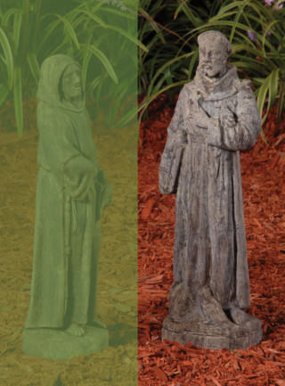 14007 A Small Saint Francis with Bible