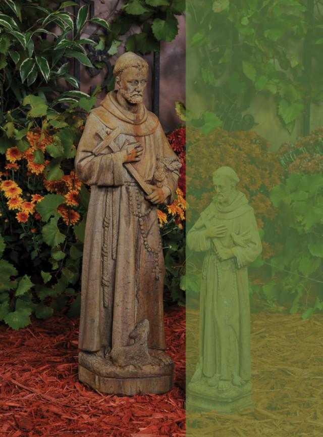 14010 B Large Saint with Cross