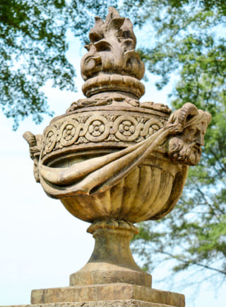 32003 Satyr Urn Finial with Flame Cap
