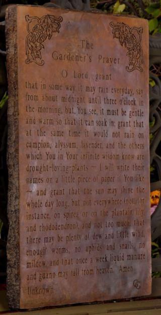 38030 Gardener's Prayer