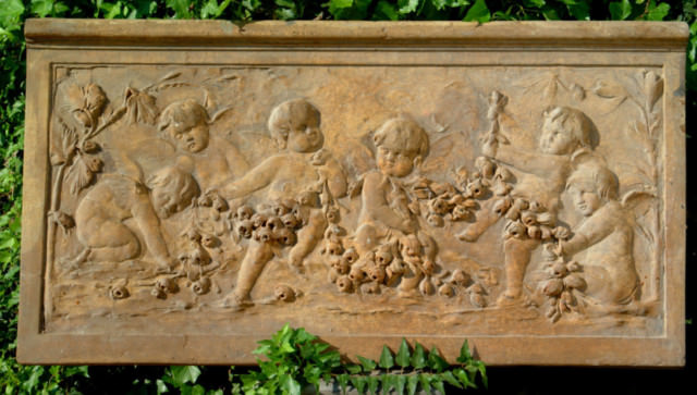 38043 Cherub/Rose Wall Plaque