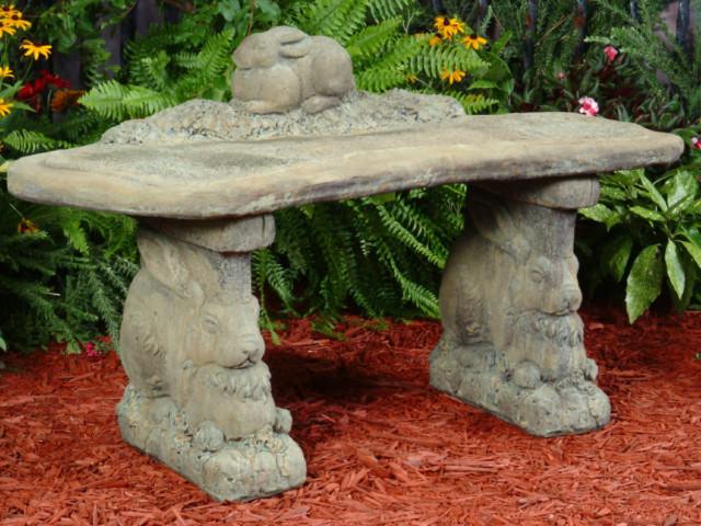 Bunny Bench Unique Stone Antique Amp Garden Reproductions