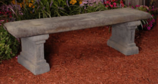 46503 Antique Panel Bench *Charleston*