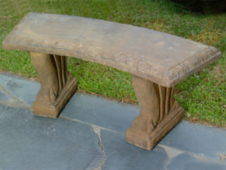 46504 Curved-Top Bench with Lion Claw legs