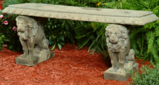 46508 English Lion Bench