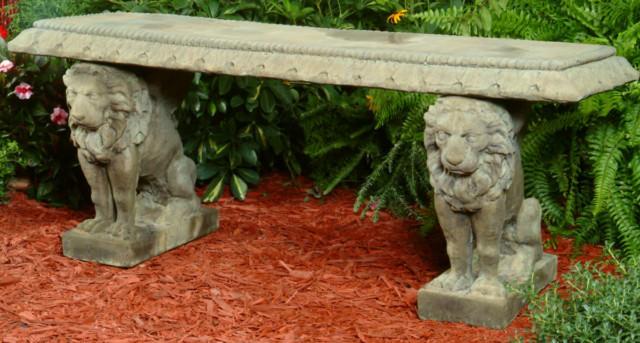 46508 English Lion Bench