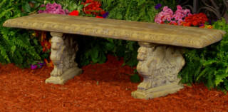 46512 Greek Key Bench with Monarch Legs