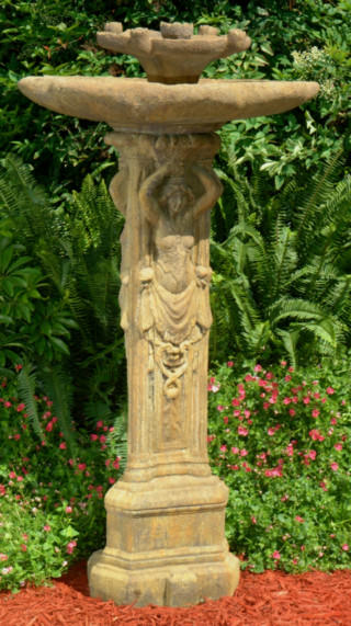52001 Three Graces Birdbath with Lily Top