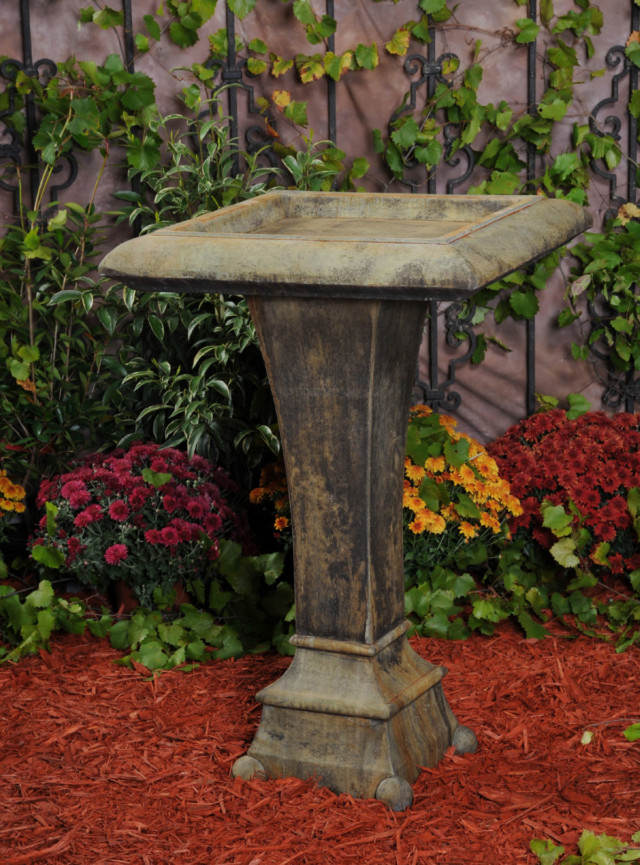 52020 Square Contemporary Birdbath