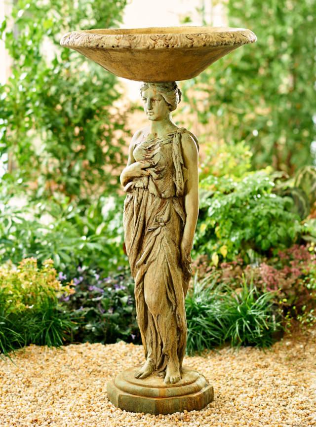 52503 Metropolitan Woman Birdbath