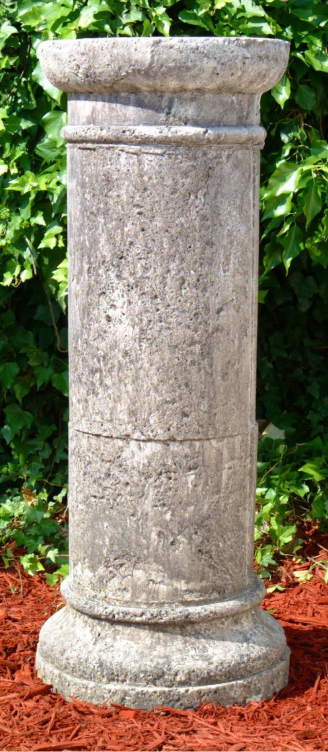55015 Tall Round Antique Pedestal
