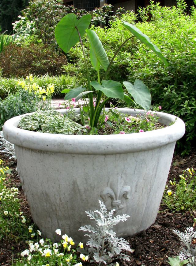 Fleur-de-lis Planter | Unique Stone | Antique & Garden Reproductions
