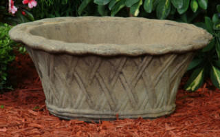 63505 Oval Weave Planter