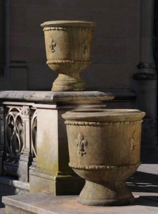 Classical Fleur-de-lis Urn
