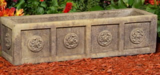 69004 Rectangular Medallion Trough