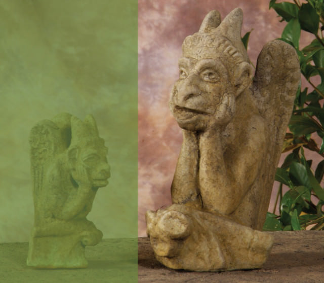87502 B Large Thinker Gargoyle