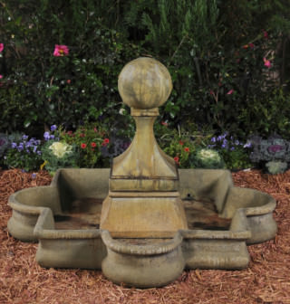 95003 Observatory Finial Fountain with Quatrefoil Basin *Biltmore*