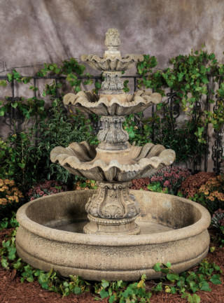 95500 WP 3-Tier Italian Fountain with X Large 18th Century Pool