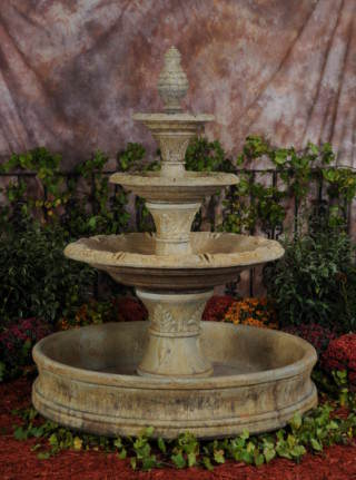 95505-WP THREE Tier Eminence Fountain with 18th Century Pool