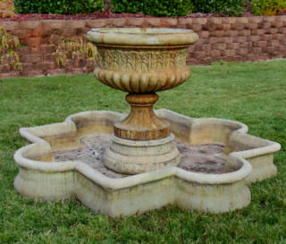 96003 Dorie Urn Fountain with Quatrefoil Basin