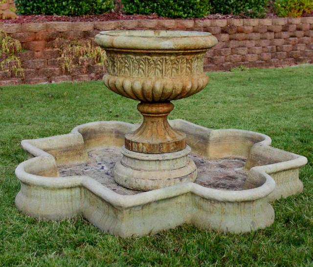 96003 Dorie Urn Fountain with Quatrefoil Basin