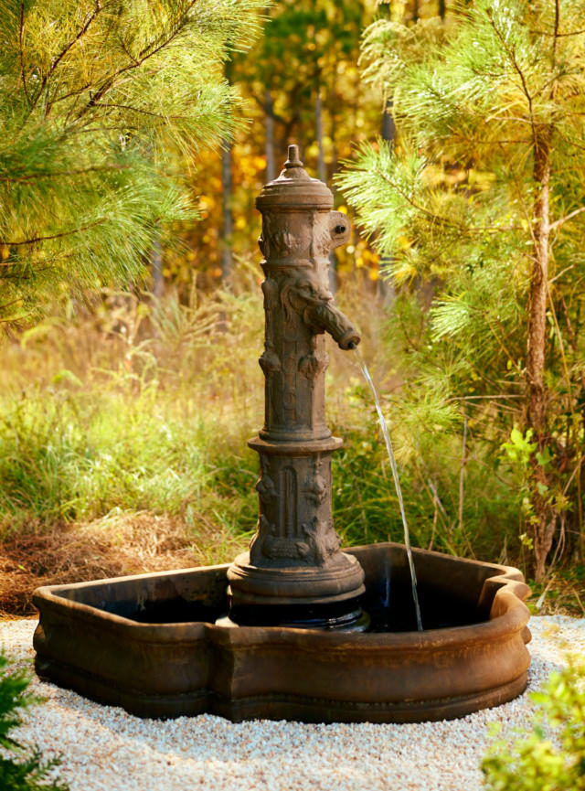 96010 Belgian Well Head Fountain with Essex Basin